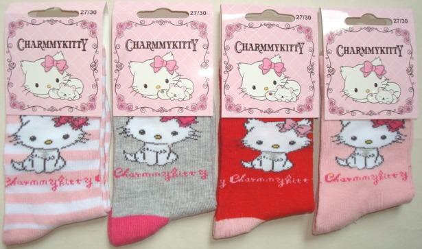 Krásné originální dětské ponožky Hello Kitty pro holky, růžové