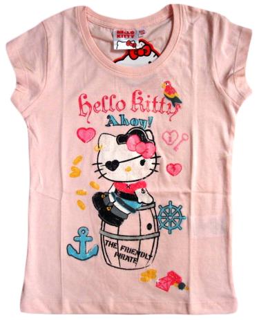 Krásné originální dětské tričko Hello Kitty, růžové, pro holky