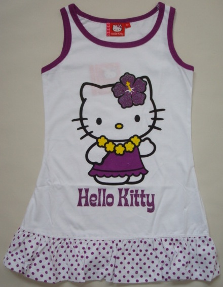 Krásné originální dětské šaty Hello Kitty pro holky