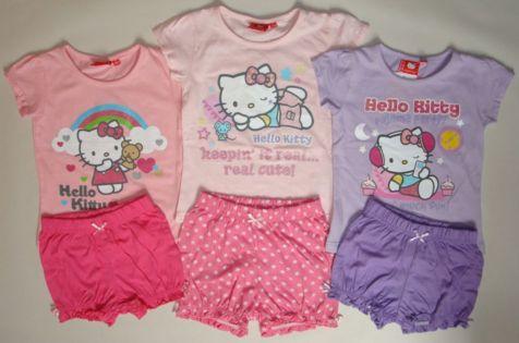 Krásné originální dětské pyžamo Hello Kitty pro holky - set