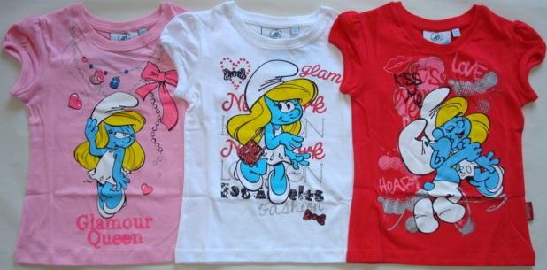 Krásné originální dětské tričko Šmoulinka pro holky