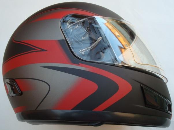 Helma na motorku - červená