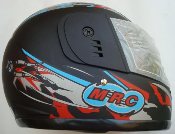 Helma na motorku - modročervená