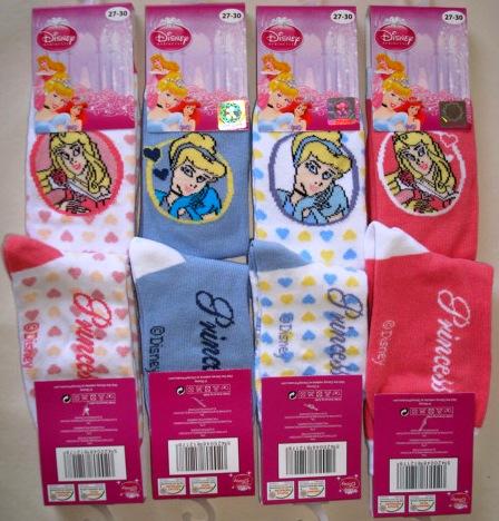 Krásné originální dětské ponožky Disney princezny pro holky