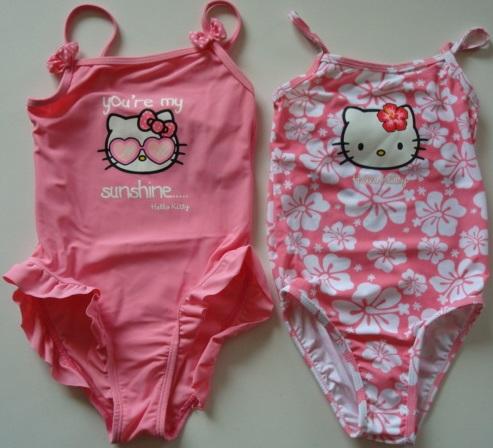 Krásné originální dětské plavky Hello Kitty pro holky - 2 barvy