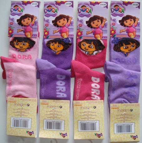 Krásné originální dětské ponožky Dora pro holky