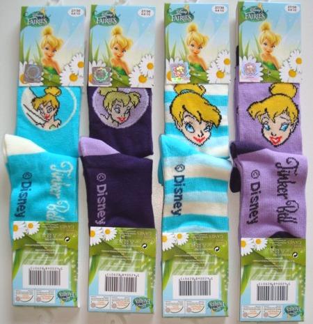 Krásné originální dětské ponožky Víla Zvonilka pro holky