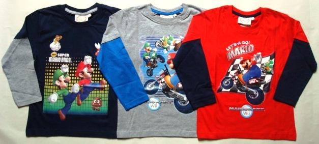 Tričko Super Mario, dlouhý rukáv, combi 1
