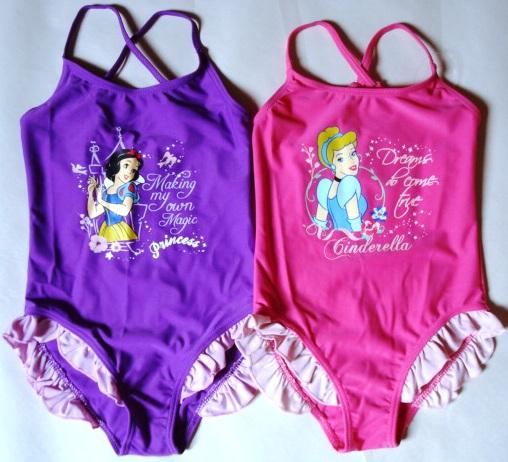 Krásné originální dětské plavky Disney Princezny pro holky