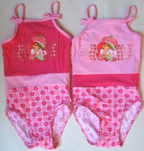 Krásné originální dětské plavky Jahůdka pro holky