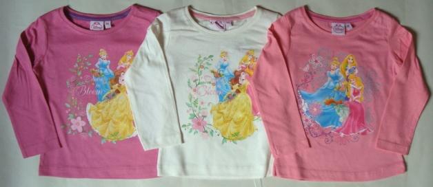 Krásné originální dětské tričko Disney Princezny pro holky