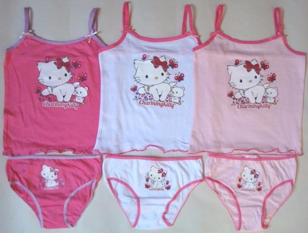 Krásná originální dětská košilka a kalhotky Hello Kitty pro holky