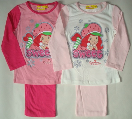 Krásné originální dětské pyžamo Jahůdka pro holky