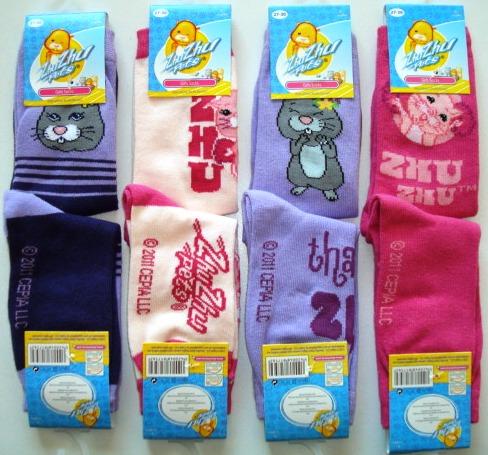 Krásné originální dětské ponožky Zhu Zhu Pets pro holky