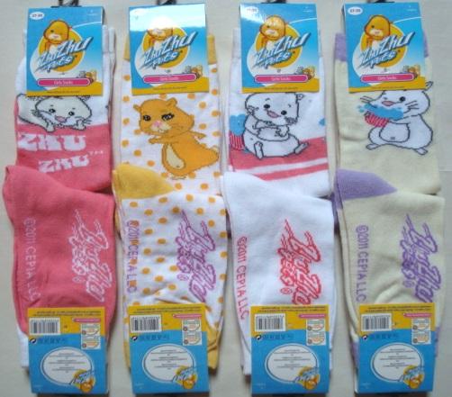 Krásné originální dětské ponožky Zhu Zhu Pets pro holky, barevné