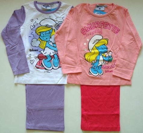 Krásné originální dětské pyžamo Šmoulinka pro holky