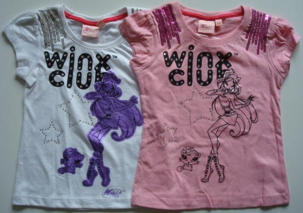 Krásné originální dětské tričko Winx pro holky - bílé a růžové