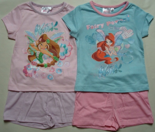 Krásné originální dětské tričko a šortky Winx pro holky