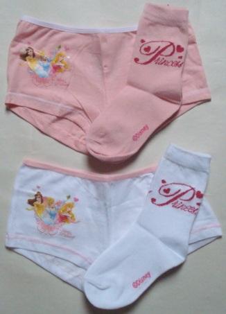 Krásné originální dětské kalhotky a ponožky Disney Princezny