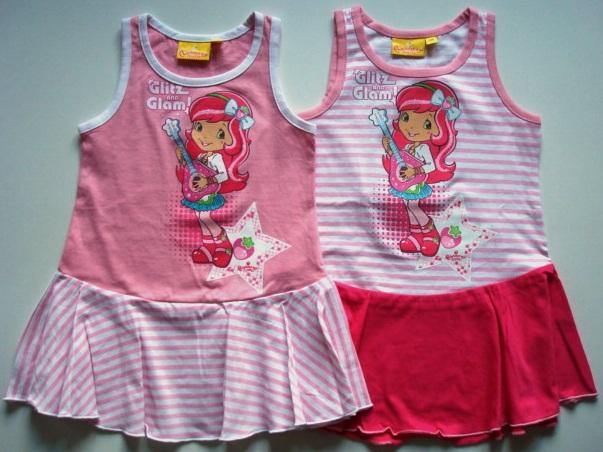 Krásné originální dětské šaty Jahůdka pro holky