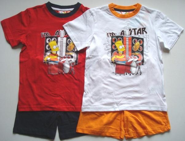 Set tričko a šortky / letní pyžamo Simpsons