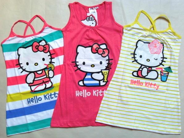 Krásné originální dětské letní šaty Hello Kitty pro holky