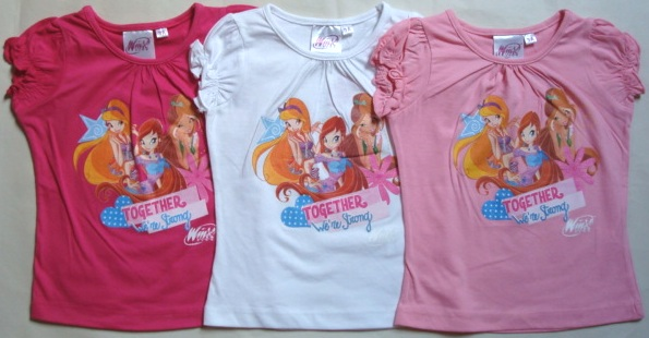 Krásné originální dětské tričko Winx pro holky