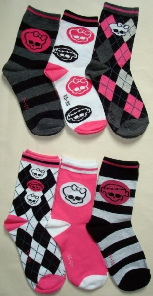 Ponožky Monster High, 3-Pack