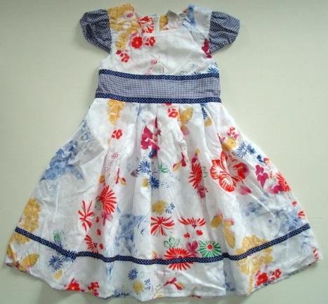 Šaty bílé s květy
