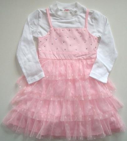 Šaty a tričko, růžové