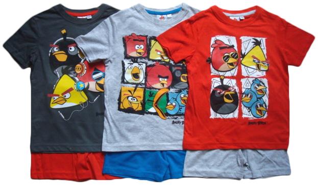 Pyžamo Angry Birds / set šortky a tričko
