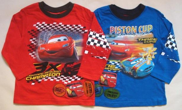 Krásné originální dětské tričko Disney Cars s hrací nášivkou