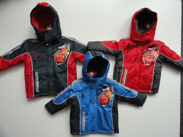 Zimní bunda Disney Cars, šedá, modrá a červená