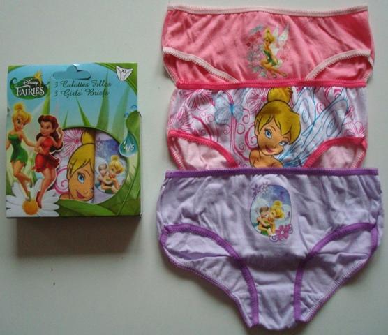 Krásné originální dětské kalhotky Víla Zvonilka pro holky, 3-pack