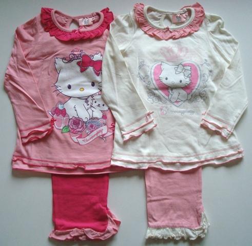 Krásné originální dětské pyžamo Hello Kitty pro holky, s kanýrky