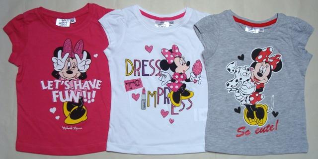Krásné originální dětské tričko Minnie s krátkým rukávem pro holky