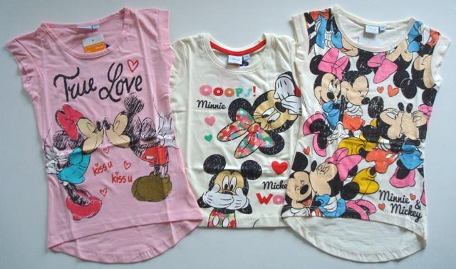 Krásné originální dětské tričko Minnie pro holky - 3 barvy