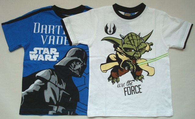Tričko Star Wars, modré a bílé