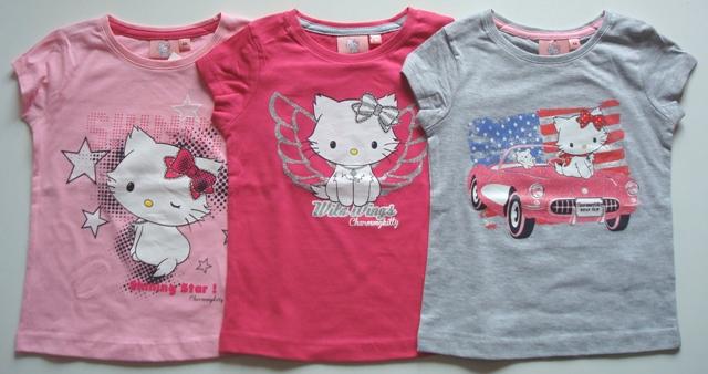 Tričko Hello Kitty, 3 barvy
