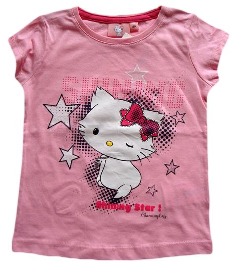 Krásné originální dětské tričko Hello Kitty pro holky, světle růžové
