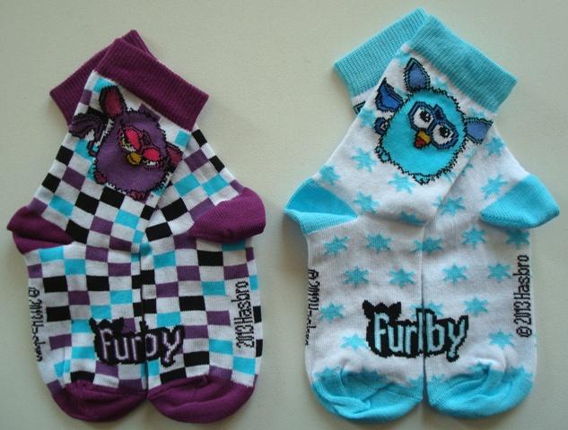Krásné originální dětské ponožky Furby pro holky