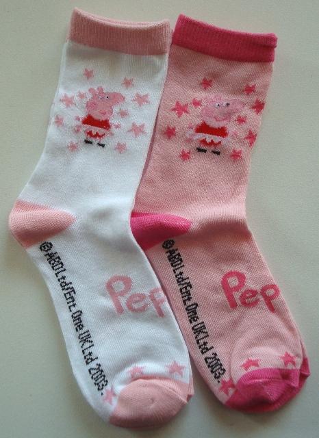 Krásné originální dětské ponožky Peppa Pig pro holky