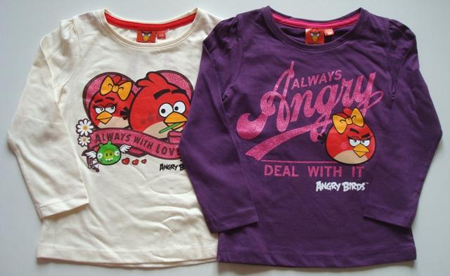 Krásné originální dětské tričko Angry Birds pro holky