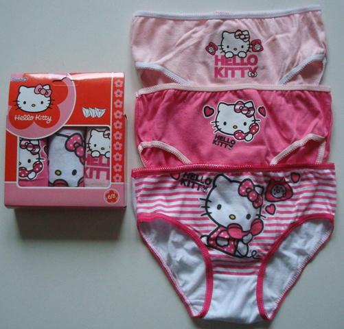Krásné originální dětské kalhotky Hello Kitty pro holky, 3-pack