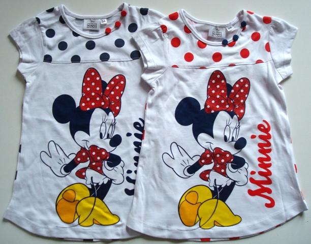 Krásné originální dětské letní šaty / noční košile Minnie pro holky