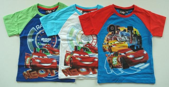 Krásné originální dětské tričko Disney Cars Neon pro kluky