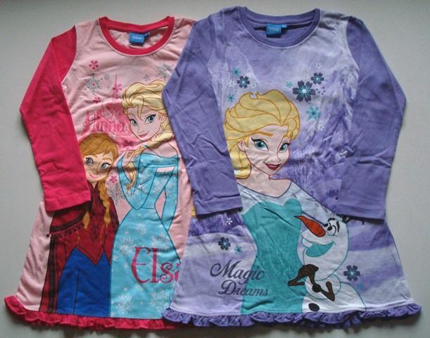 Krásná originální dětská noční košile ledové království pro holky
