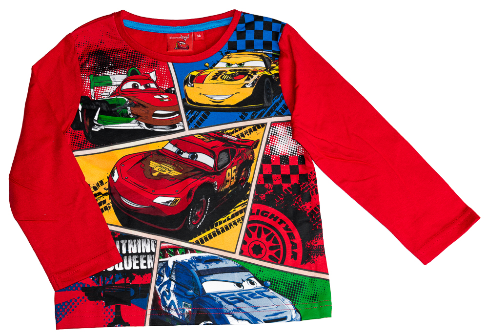 Dětské originální licenční tričko Disney Cars, červené