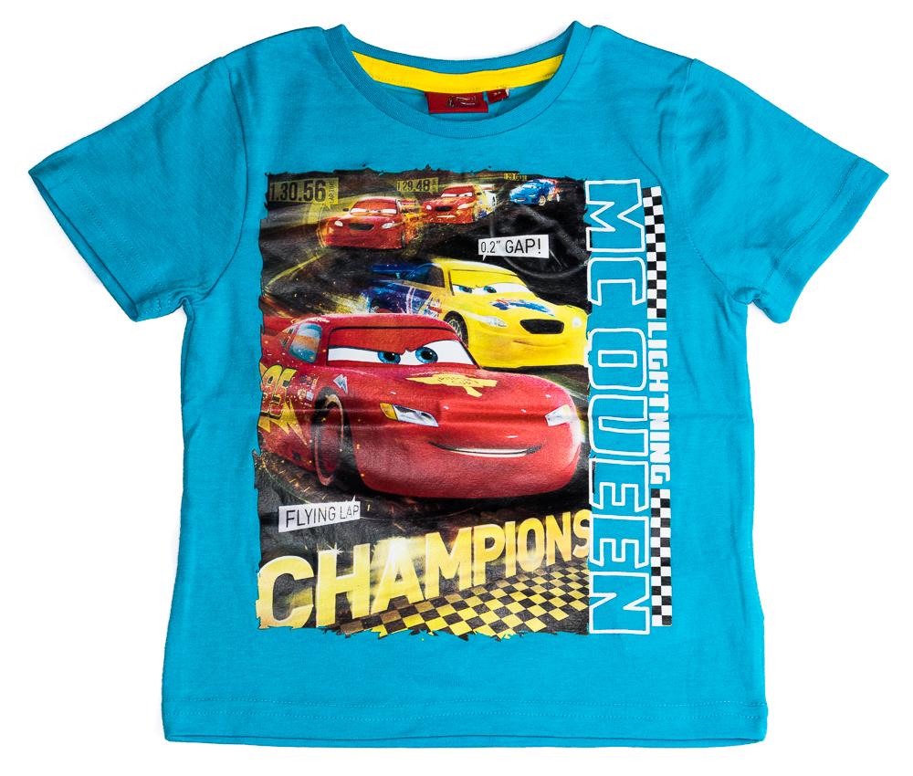 Krásné originální dětské tričko Disney Cars pro kluky, tyrkysové