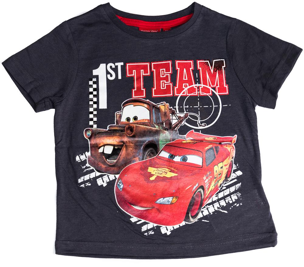 Krásné originální dětské tričko Disney Cars pro kluky, šedé